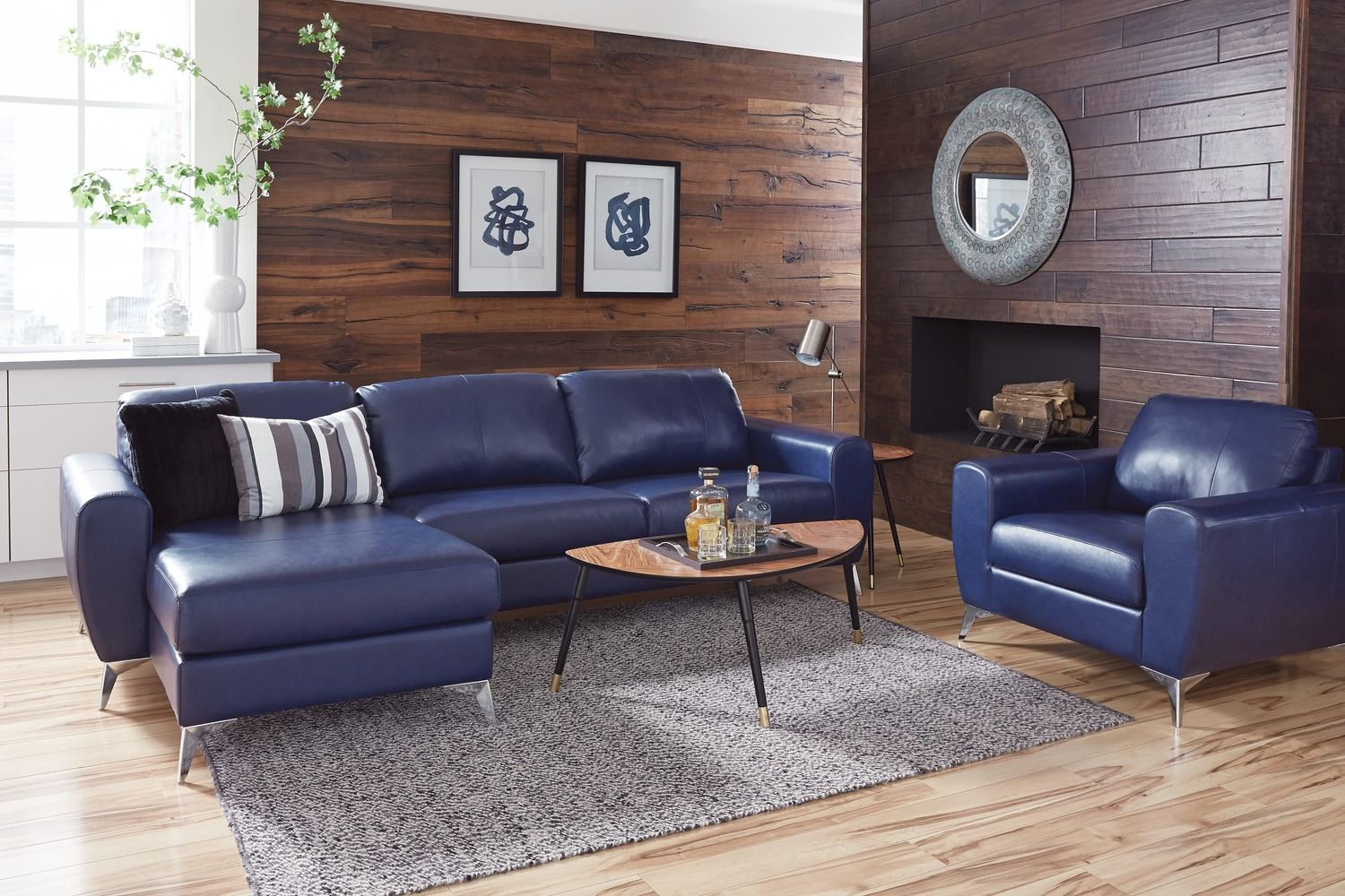 blue vivy sectional sofa